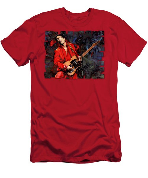 Prince Nelson With Guitar  Men's T-Shirt (Athletic Fit)