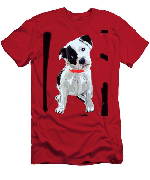 Dog Doggie Red Men's T-Shirt (Athletic Fit)