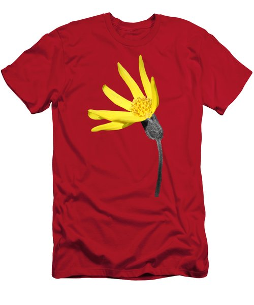 Men's T-Shirt (Slim Fit) featuring the photograph Yellow Wildflower by Shane Bechler