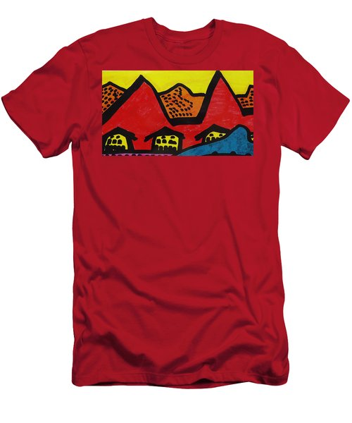 Asian Village  Men's T-Shirt (Athletic Fit)