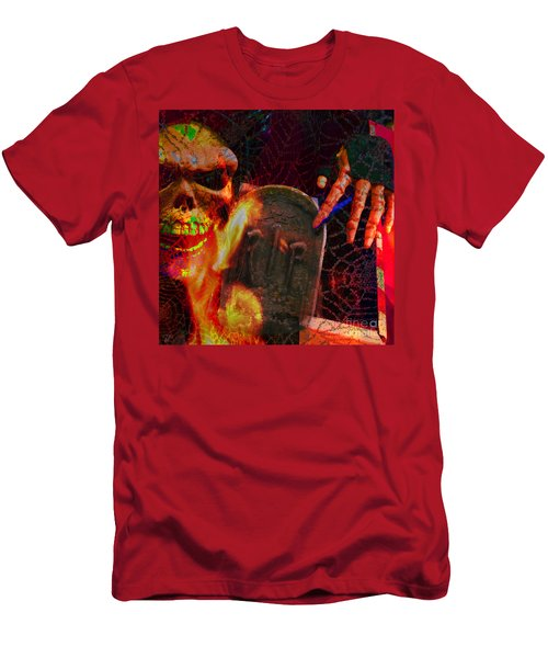 At Night In The Graveyard Men's T-Shirt (Athletic Fit)