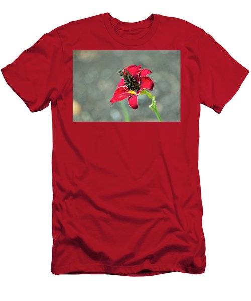 Men's T-Shirt (Athletic Fit) featuring the photograph At One With The Orchid 2 by Brian Hale