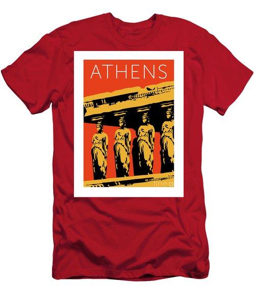 Athens Erechtheum Orange Men's T-Shirt (Athletic Fit)