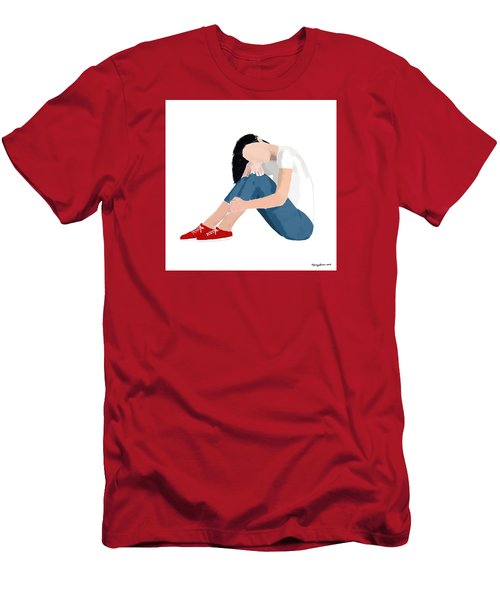 Men's T-Shirt (Slim Fit) featuring the digital art Aubrey by Nancy Levan