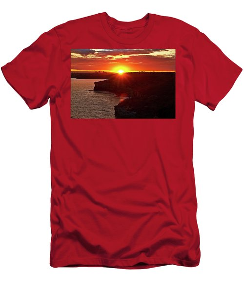 August Sunset From North Head Men's T-Shirt (Athletic Fit)