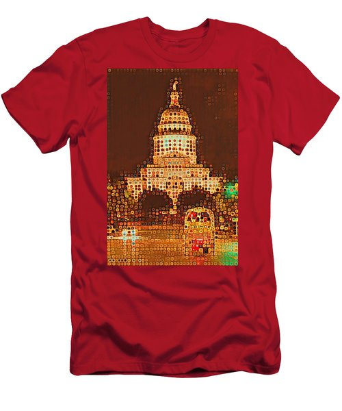 Austin Capitol At Night Men's T-Shirt (Athletic Fit)