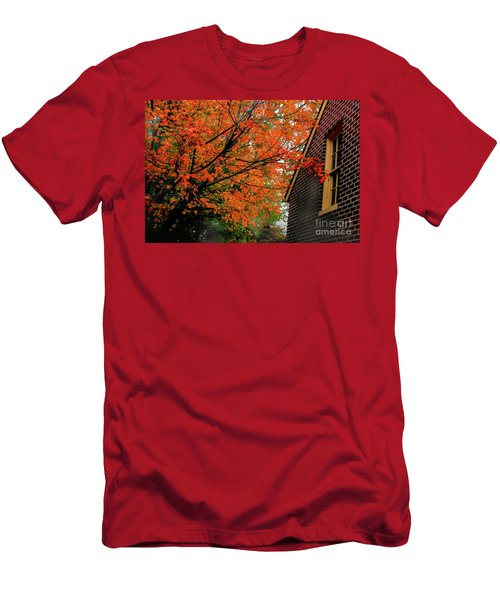 Autumn At The Window Men's T-Shirt (Athletic Fit)