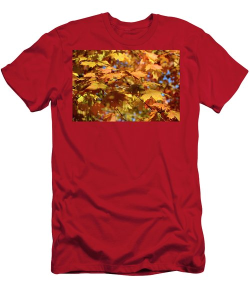 Men's T-Shirt (Athletic Fit) featuring the photograph Autumn Colors 3  by Angie Tirado