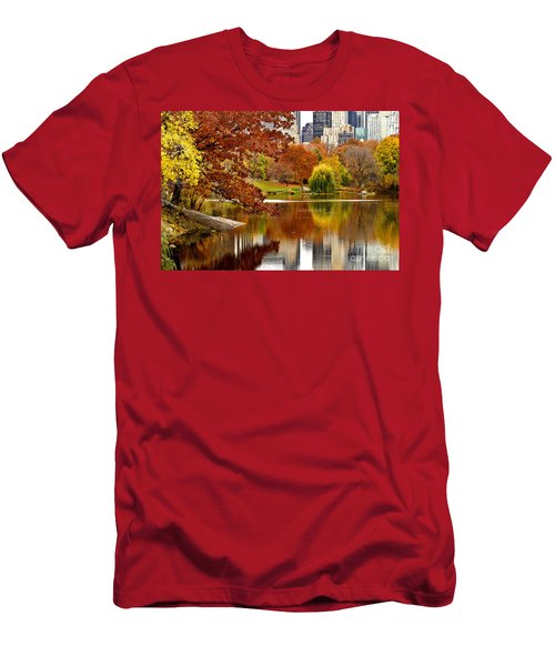 Autumn Colors In Central Park New York City Men's T-Shirt (Athletic Fit)