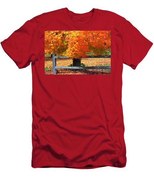 Autumn Fence Men's T-Shirt (Athletic Fit)