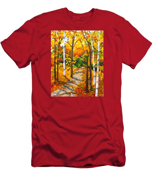 Autumn Forest Trail Men's T-Shirt (Slim Fit) by Diane Arlitt