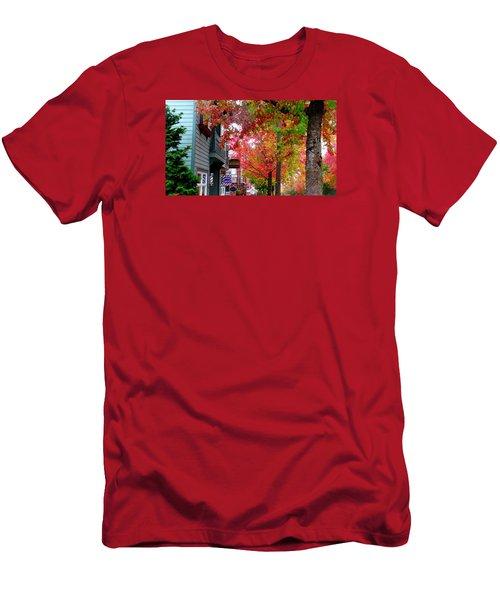 Autumn In Fairhaven Men's T-Shirt (Slim Fit) by Karen Molenaar Terrell