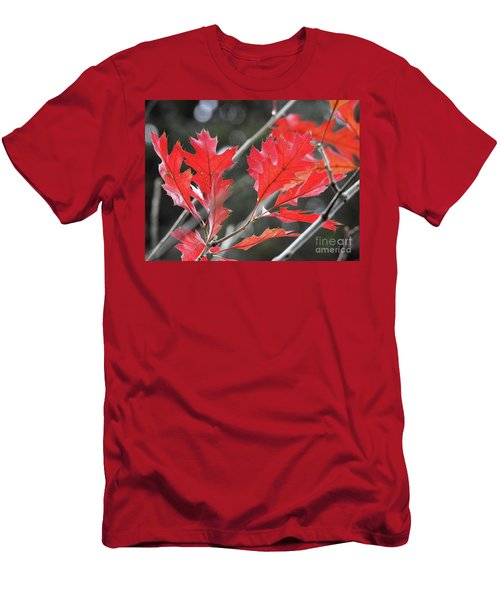 Men's T-Shirt (Athletic Fit) featuring the photograph Autumn Leaves by Peggy Hughes