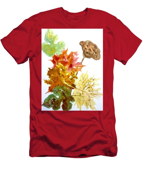 Autumn Leaves Still Life Men's T-Shirt (Athletic Fit)