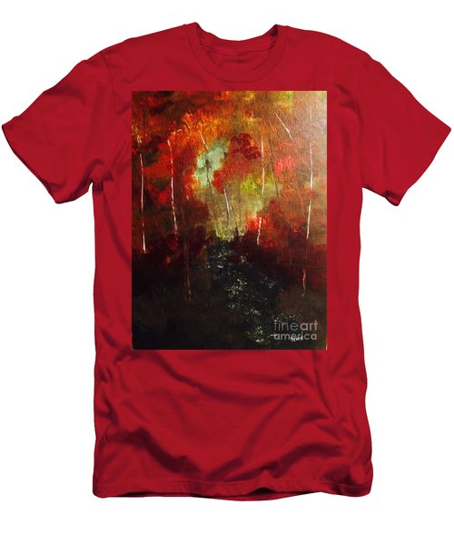 Men's T-Shirt (Athletic Fit) featuring the painting Sunset Trail by Denise Tomasura