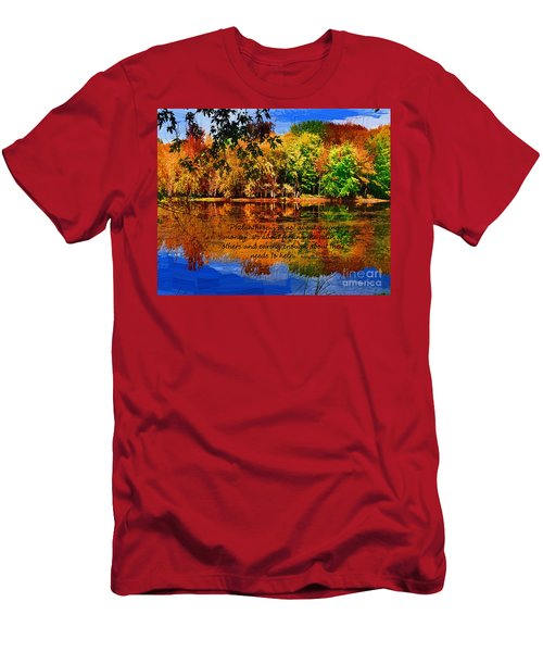 Autumn Serenity Philanthropy Painted Men's T-Shirt (Slim Fit) by Diane E Berry