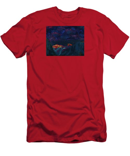 Autumn Sunset Over Half Dome 2013 B Men's T-Shirt (Slim Fit) by Walter Fahmy