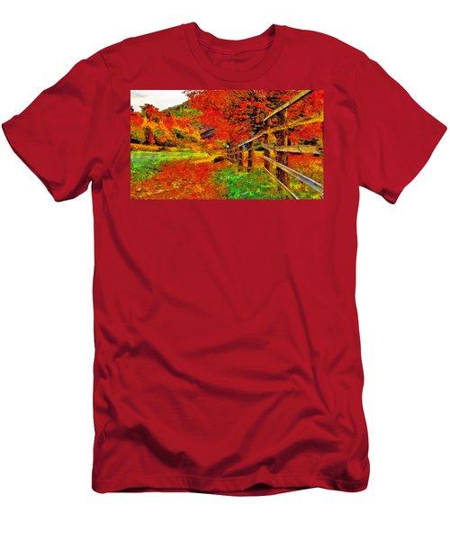 Autumnal Blaze Of Glory Men's T-Shirt (Athletic Fit)