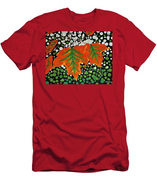 Men's T-Shirt (Slim Fit) featuring the painting Autumns Kiss by Kathleen Sartoris