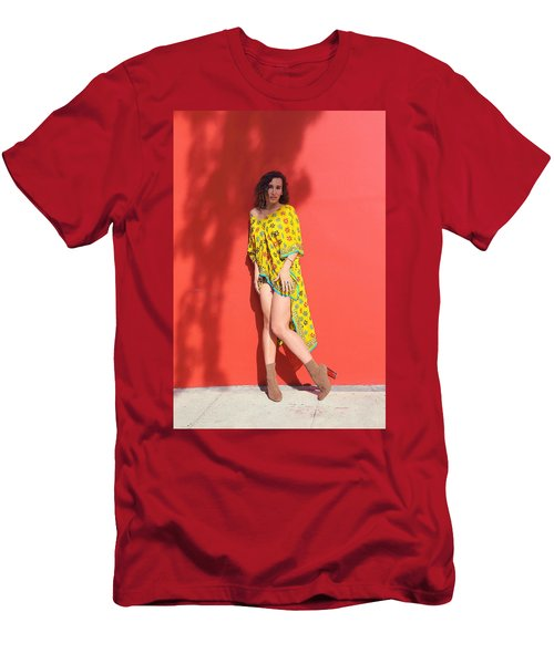 Ava Milva Standing Men's T-Shirt (Slim Fit) by Viktor Savchenko