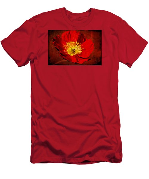 Men's T-Shirt (Slim Fit) featuring the photograph Awake To Red by Phyllis Denton