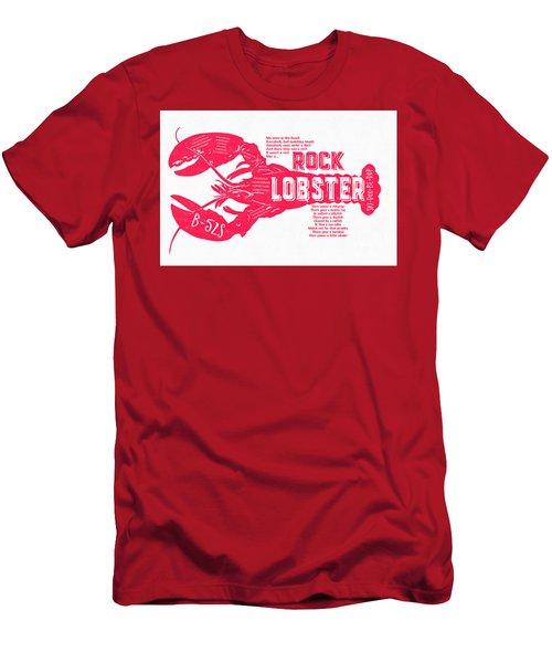 B-52s Rock Lobster Lyric Poster Men's T-Shirt (Slim Fit) by Edward Fielding