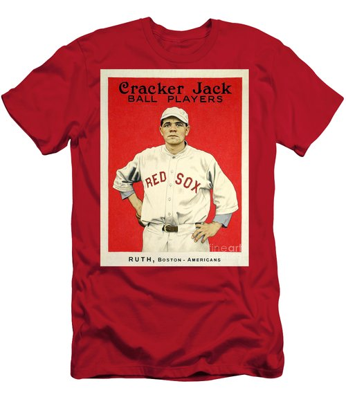 Babe Ruth Cracker Jack Card Men's T-Shirt (Athletic Fit)