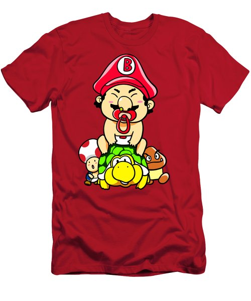 Baby Mario And Friends Men's T-Shirt (Athletic Fit)