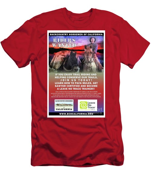 Backcountry Horsemen Join Us Poster II Men's T-Shirt (Athletic Fit)