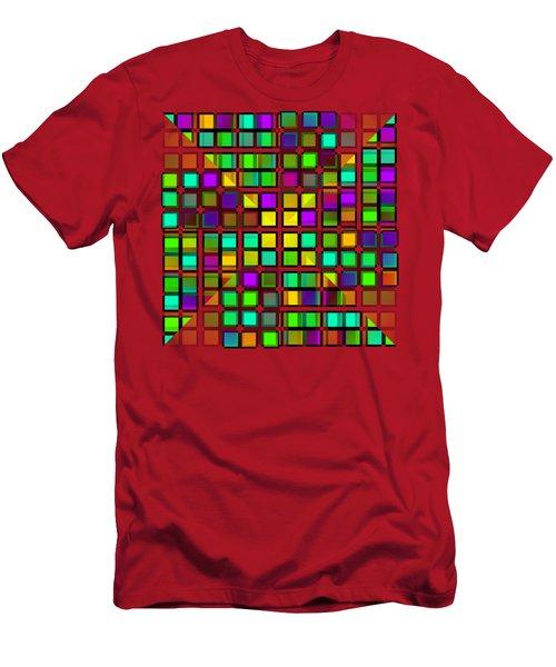 Colour Choice Squares 2 Men's T-Shirt (Slim Fit) by Barbara Moignard