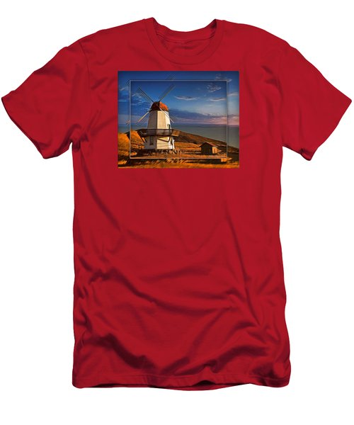 Baker City Windmill_1a Men's T-Shirt (Athletic Fit)