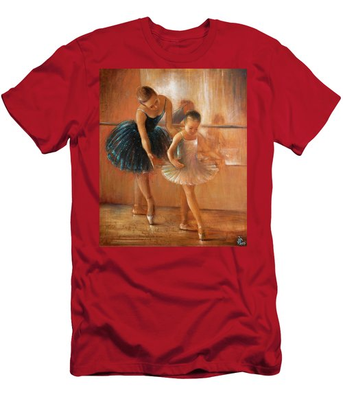 ballet lesson-painting on leather by Vali Irina Ciobanu  Men's T-Shirt (Athletic Fit)