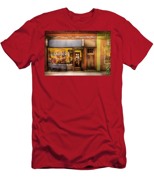 Barber - Towne Barber Shop Men's T-Shirt (Athletic Fit)