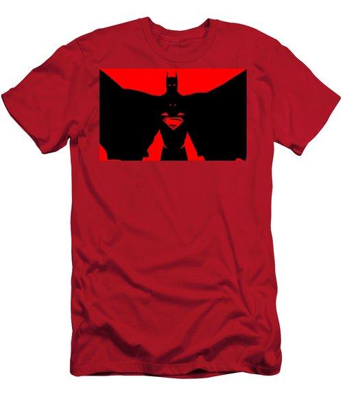 Batman/superman Men's T-Shirt (Athletic Fit)