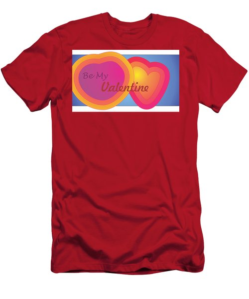Be My Valentine Card Men's T-Shirt (Athletic Fit)
