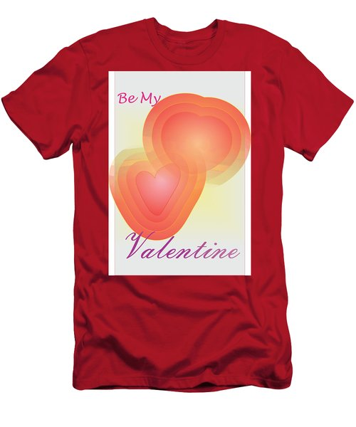 Men's T-Shirt (Slim Fit) featuring the digital art Be My Valentine by Sherril Porter