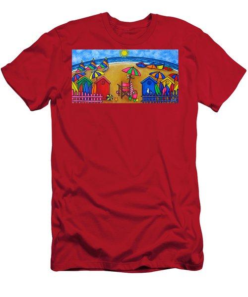 Beach Colours Men's T-Shirt (Athletic Fit)