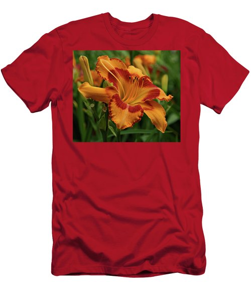 Men's T-Shirt (Slim Fit) featuring the photograph Beautiful Daylily by Sandy Keeton