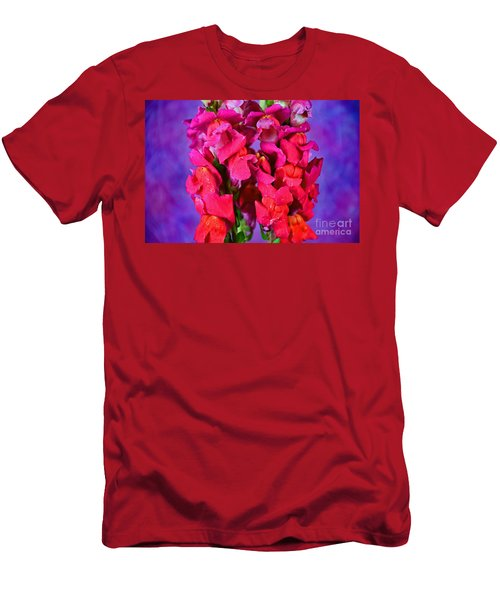 Beautiful Snapdragon Flowers Men's T-Shirt (Slim Fit) by Ray Shrewsberry