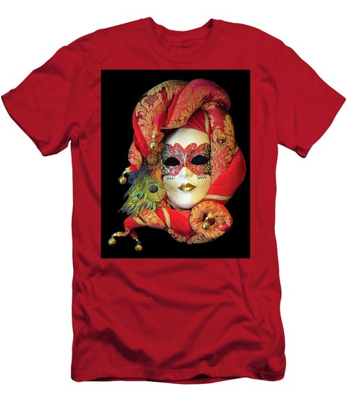 Beautiful Venetian Mask Men's T-Shirt (Athletic Fit)