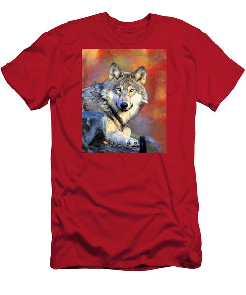 Beautiful Wolf Art Men's T-Shirt (Athletic Fit)