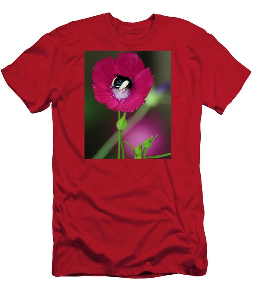 Men's T-Shirt (Slim Fit) featuring the photograph Bee My Guest by Elizabeth Sullivan