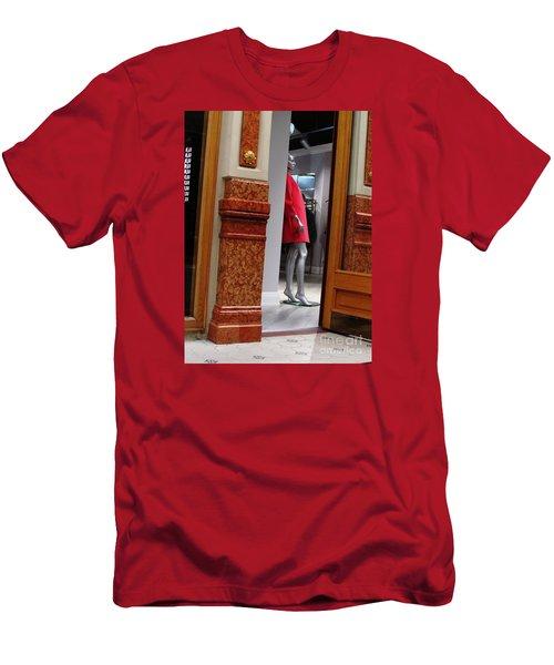Behind Doors Men's T-Shirt (Slim Fit) by Anna Yurasovsky