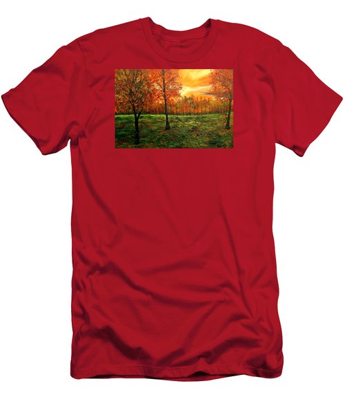 Being Thankful Men's T-Shirt (Slim Fit) by Lisa Aerts