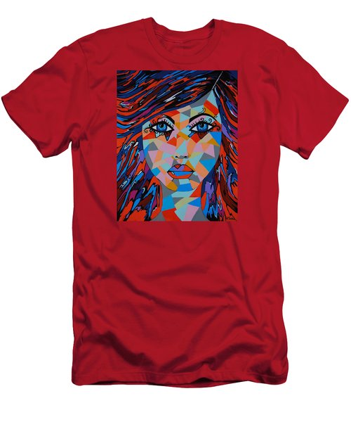 Men's T-Shirt (Slim Fit) featuring the painting Bella by Kathleen Sartoris