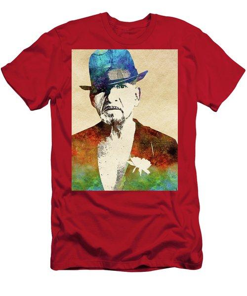 Ben Kingsley Men's T-Shirt (Slim Fit) by Mihaela Pater