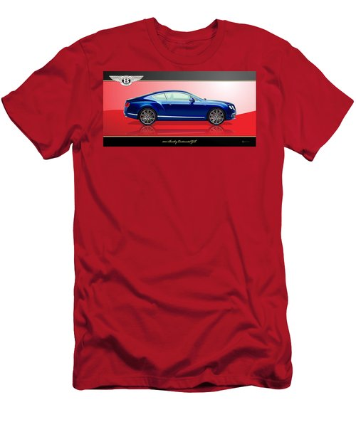 Bentley Continental Gt With 3d Badge Men's T-Shirt (Athletic Fit)