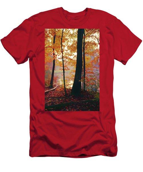 Bernharts Dam Fall 031 Men's T-Shirt (Slim Fit) by Scott McAllister