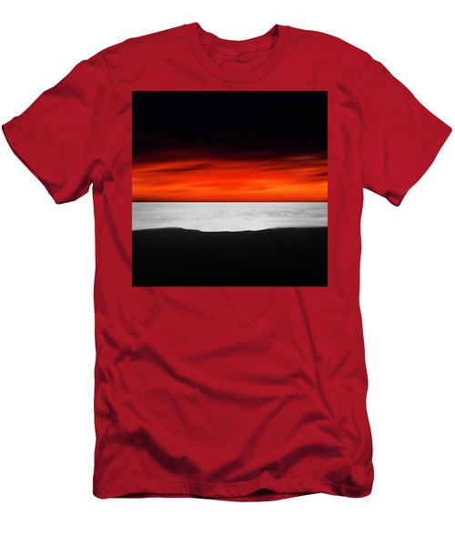 Between Red And Black Men's T-Shirt (Athletic Fit)