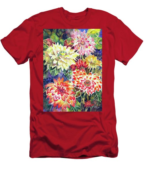 bety's Dahlias Men's T-Shirt (Athletic Fit)